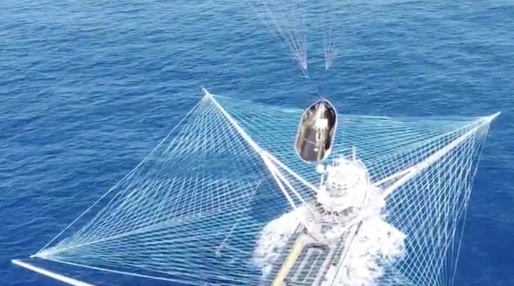 Elon Musk shares cool SpaceX video of perfect fairing catch