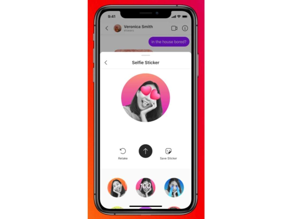 Use your very own selfie stickers