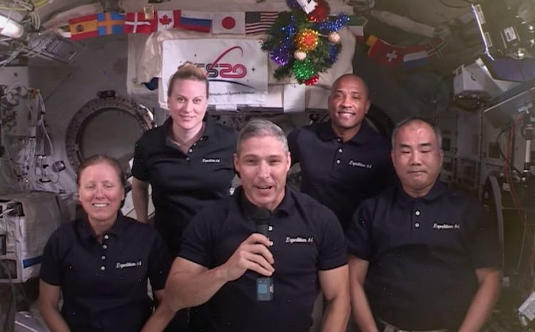 Space station crew offers a year-end message of hope for fellow earthlings