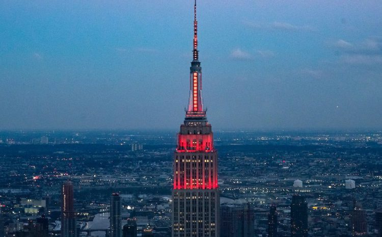 Thursday's special space event turns Empire State Building red