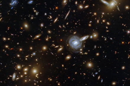 See a glittering gang of galaxies in this week's Hubble image