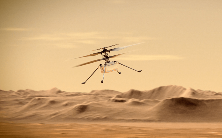 Watch NASA video showing recent Mars helicopter flight in 3D